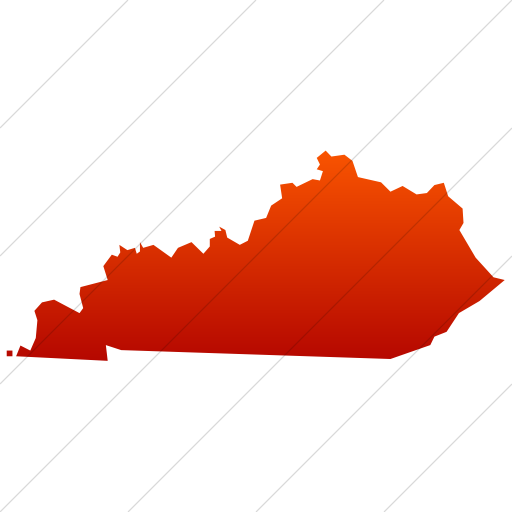 Simple Red Gradient Us States Kentucky Icon