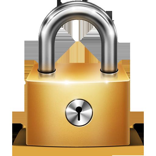 Gold Lock Icon