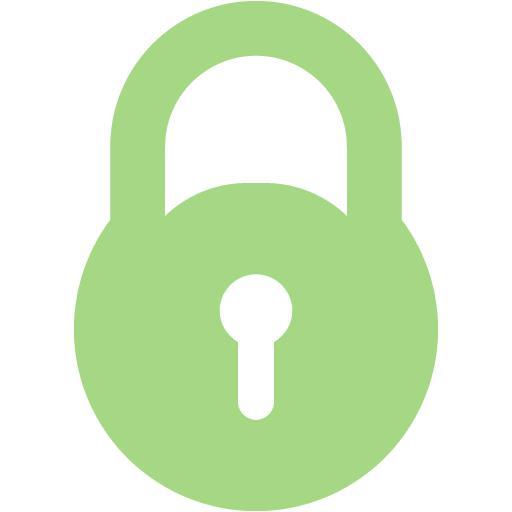 Guacamole Green Lock Icon