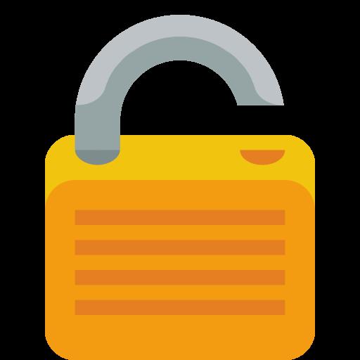 Lock Open Icon Small Flat Iconset Paomedia