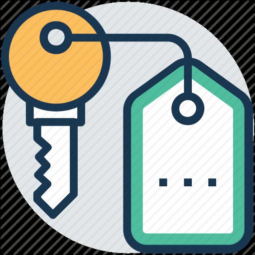 Door Key, House Key, Key, Keychain, Safety Icon