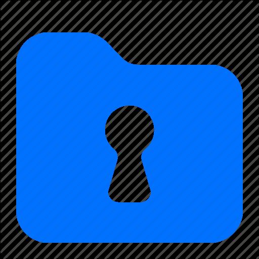 Archive, File, Folder, Keyhole Icon