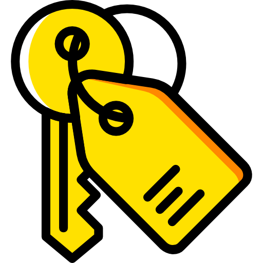 Keyword, Real Estate, Tools And Utensils Icon