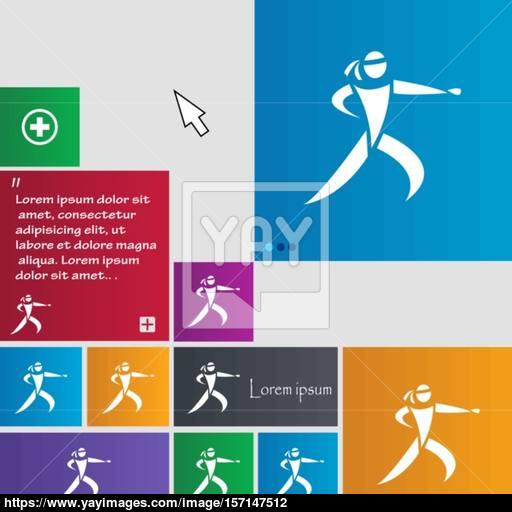 Karate Kick Icon Sign Buttons Modern Interface Website Buttons
