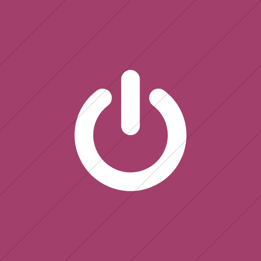 Flat Square White On Pink Bootstrap Font Awesome Power