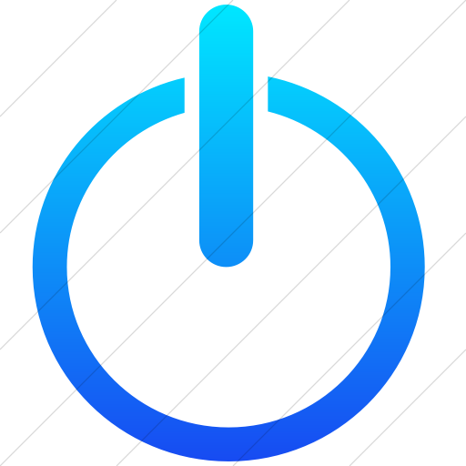 Simple Ios Blue Gradient Classica Power On Off Icon