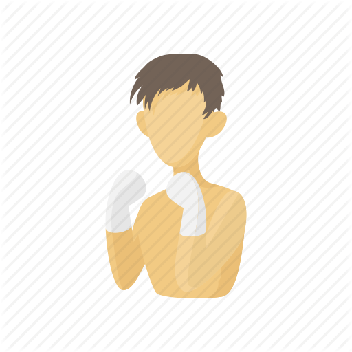 Boxer, Boxing, Cartoon, Kickboxing, Male, Sport, Thai Icon
