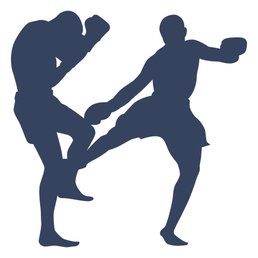 Boxing Kickboxing Sport Silhouette