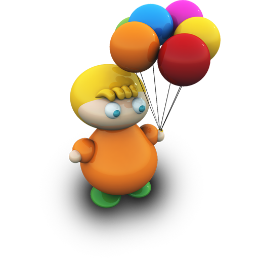 Balloonboy Icon Kids With Toys Iconset Archigraphs