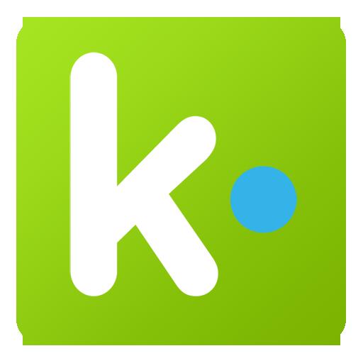 Kik Icon Flat Gradient Social Iconset Limav