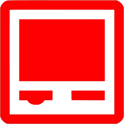 Red Self Service Kiosk Icon