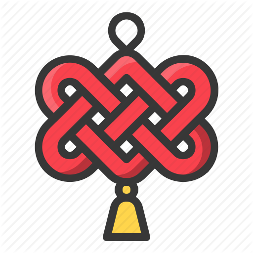Chinese, Chinese Knot, Knot, New Year, Red Icon