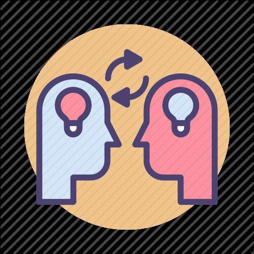 Brainstorm, Brainstorming, Exchange, Ideas, Knowledge, Sharing Icon