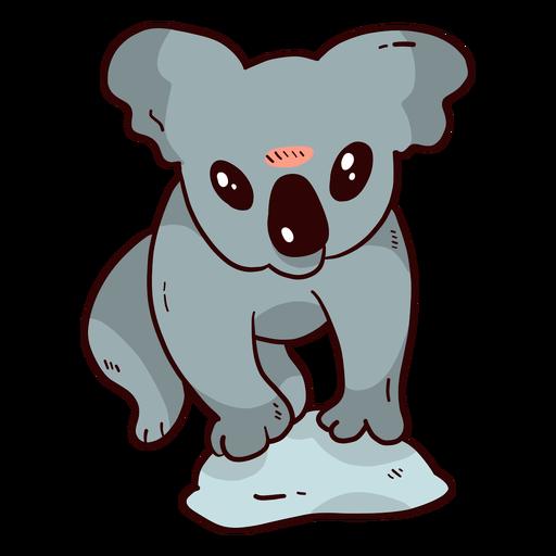 Cute Koala Ear Leg Nose Stone Flat
