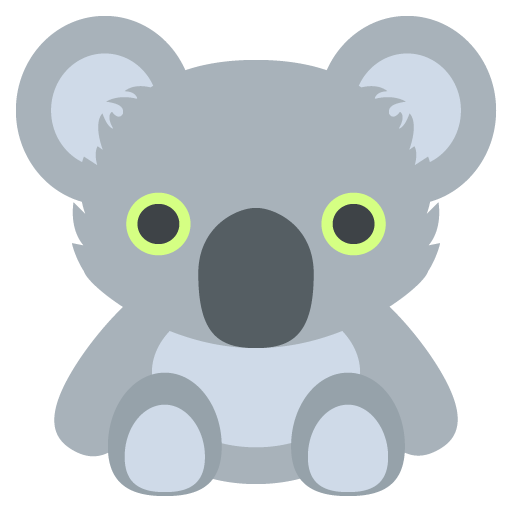 Koala Emoji Vector Icon Free Download Vector Logos Art Graphics
