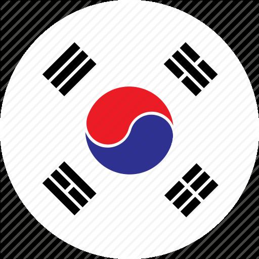 Asia, Country, Flag, Korea, Nation, Round, South Icon