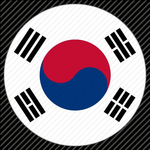 Circle, Country, Flag, South Korea Icon