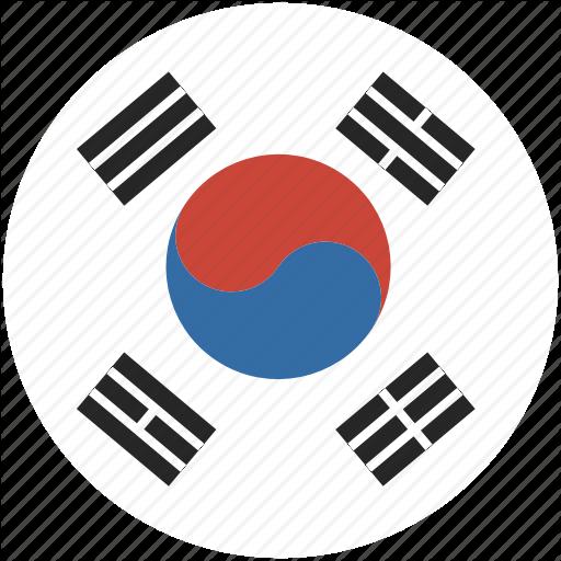 Circle, Flag, Korea, South Icon