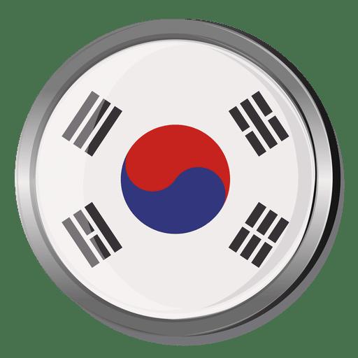 Korea Round Flag