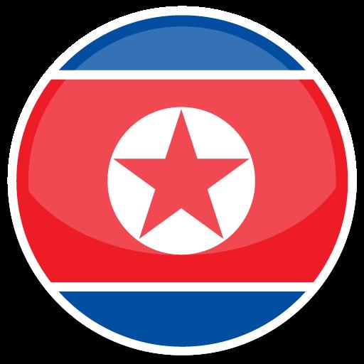 North Korea Icon Round World Flags Iconset Custom Icon Design
