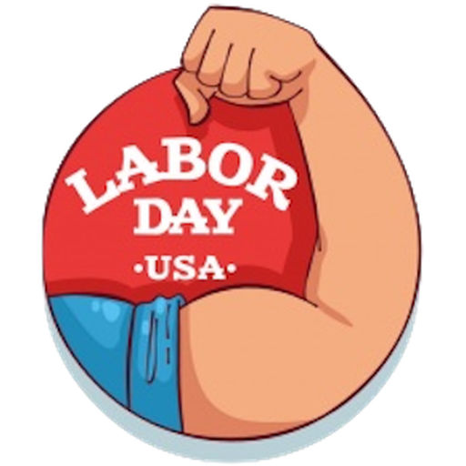 Happy Labor Day Sticker