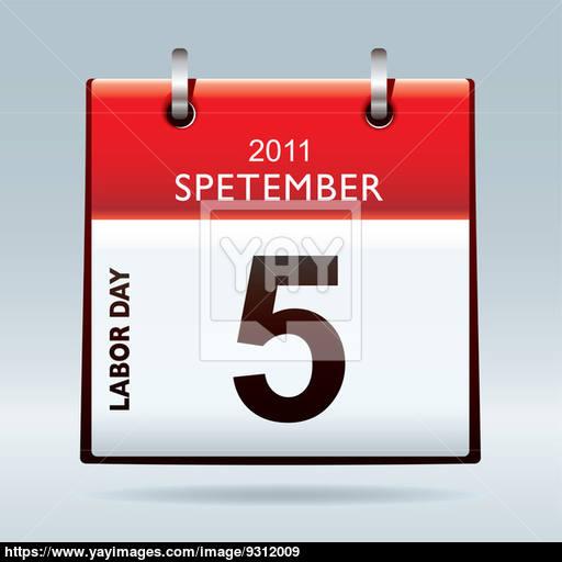 Labor Day Calendar Icon Image