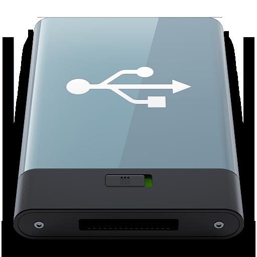 Graphite Usb W Icon Hyper Realistic Hd Iconset