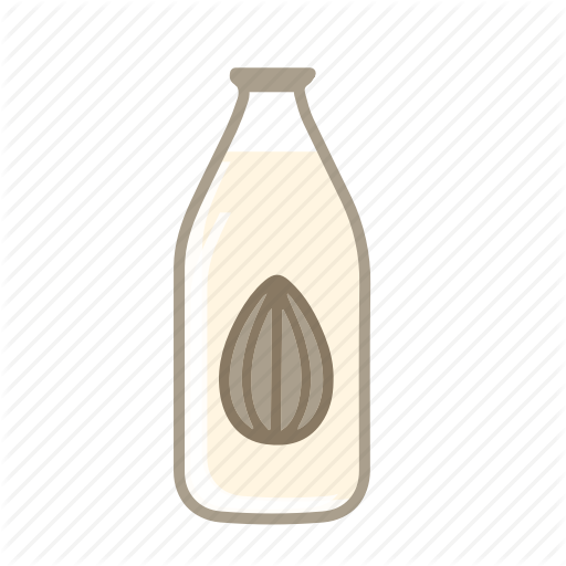 Almond Milk, Lacto Ovo, Lactose Free, Vegan Milk, Vegetarian Milk Icon