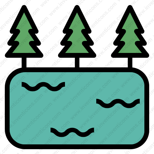 Download Lake,water,pond,forest,lagoon,forestry,treenature Icon