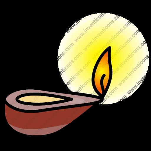 Download Oil,light,ramadan,coil Lamp Icon Inventicons