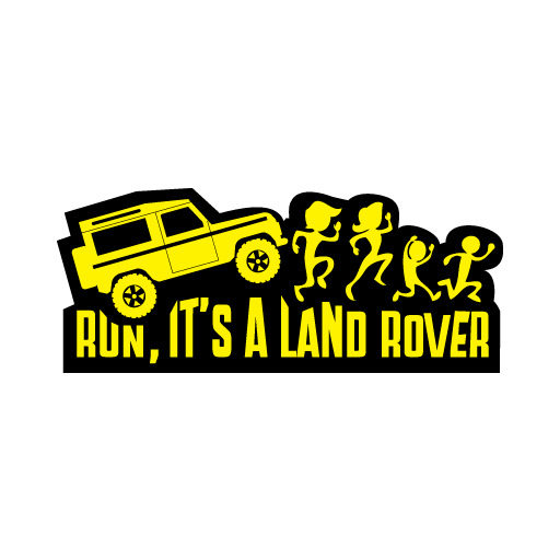 Run! It's A Land Rover Discovery Defender Series Decal Sticker