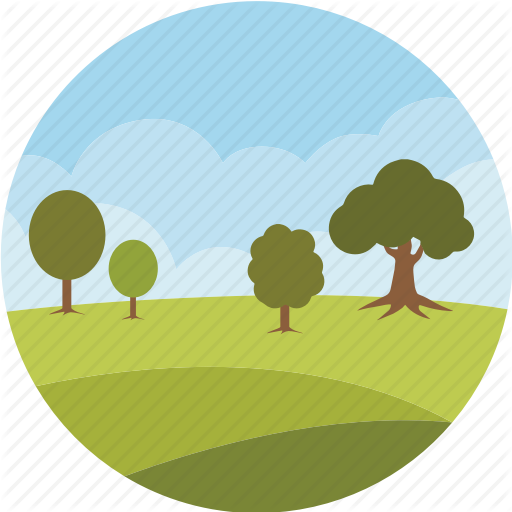 Clouds, Environment, Forest, Garden, Landscape, Nature, Park Icon