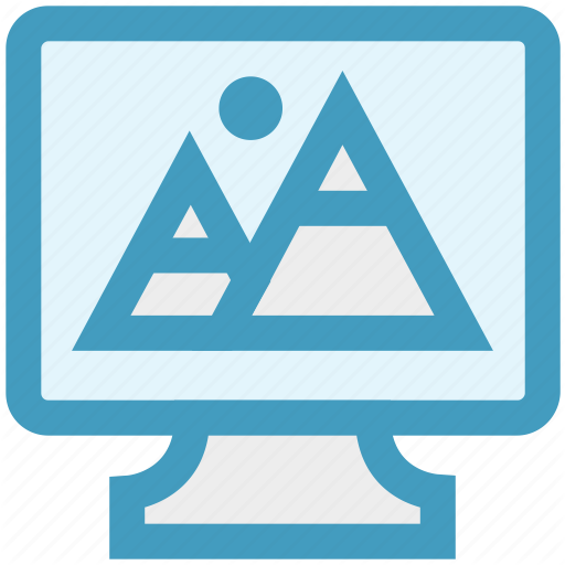 Design, Image, Landscape, Lcd, Led, Photo, Screen Icon