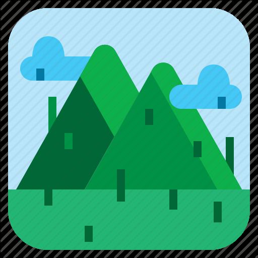 Hill, Landscape, Mountain, Nature Icon