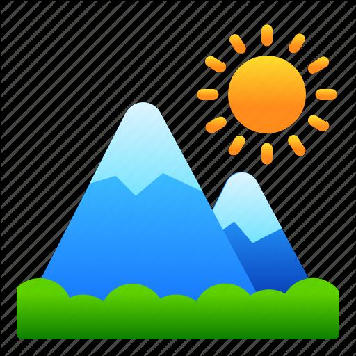 Landscape, Mountain, Nature, View Icon