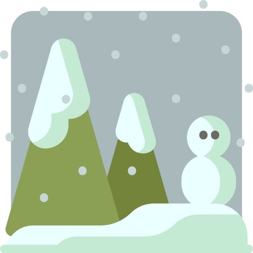 Snowing Forest Png Icon