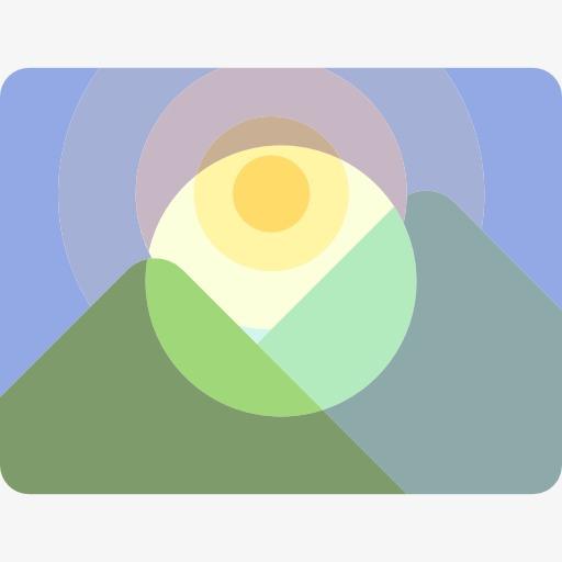 Landscape Icon, Landscape Clipart, Landscape, Sunset Png Image