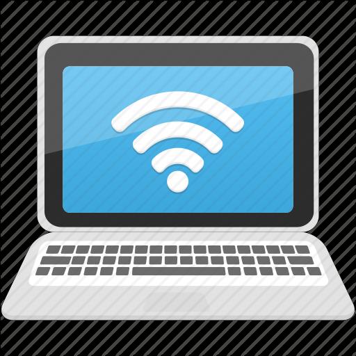 Communication, Computer, Laptop, Pc, Wifi Icon