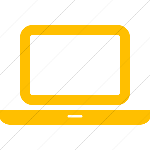 Simple Yellow Bootstrap Font Awesome Laptop Icon