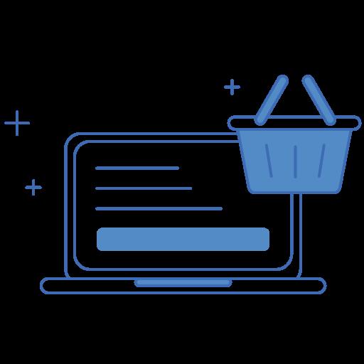 E, Commerce, Shopping Cart, Laptop Icon Free Of Elpis Icons