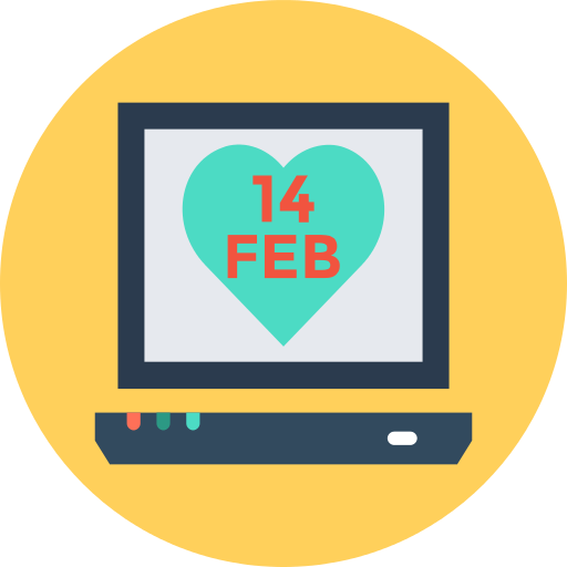 Laptop Valentines Day Png Icon