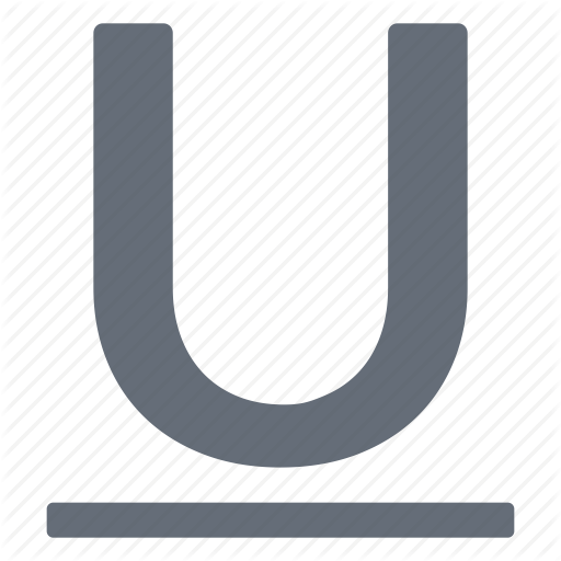 Character, Large, Mode, Processing, Style, Underline, Word Icon