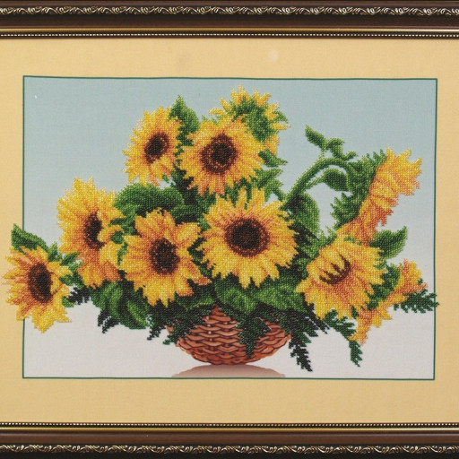 Beaded Embroidery Kit Sunflowers Lado On Artfire