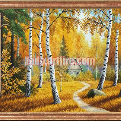 House In Autumn Forest Bead Embroidery Diy Kit Needlework Beadwork