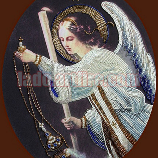 Praying Angel With Swarovski Crystals Bead Embroidery Diy Kit