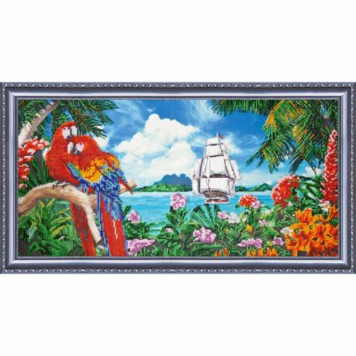 Tropics Landscape Bead Embroidery Kit Beadwork Beaded Embroidery