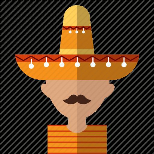 American, Avatar, Latino, Men, Mexican, Mex Sombrero Icon