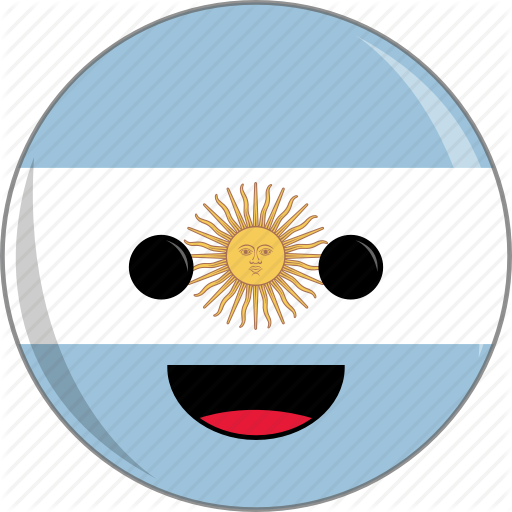 Argentina, Awesome, Country, Cute, Face, Flags, Latino Icon