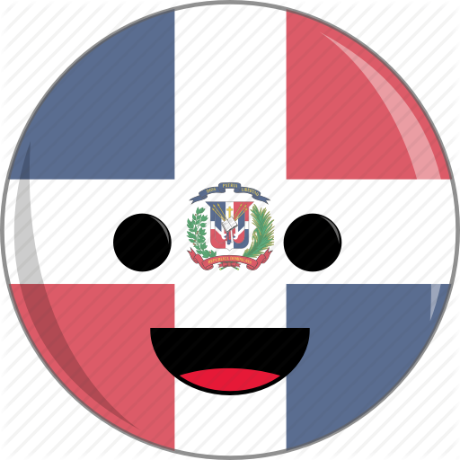 Awesome, Cute, Dominican, Face, Flags, Latino, Republic Icon