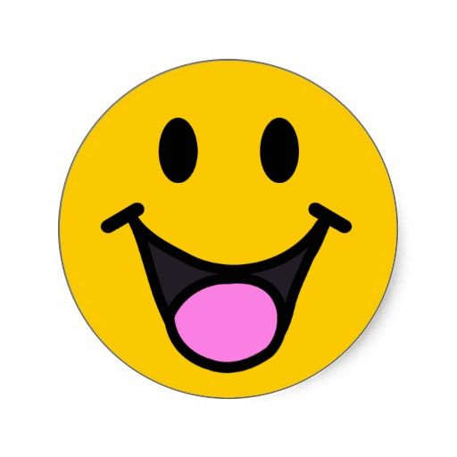 Laughing Face Classic Round Sticker Smiley Faces